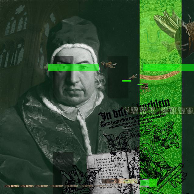 GREEN LINE [120 x 120cm]