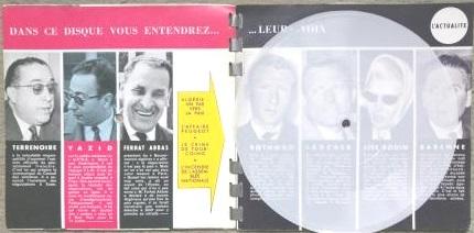 Sonorama n° 29 texte et disque souple guerre d'Algérie