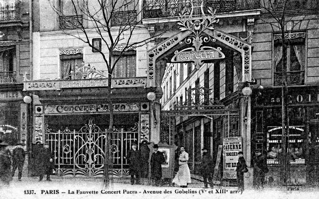 La Fauvette concert Pacra années 1900