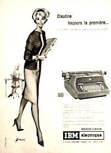 Publicité pour machine électrique IBM années 60