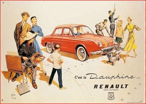 Publicité Dauphine Renault