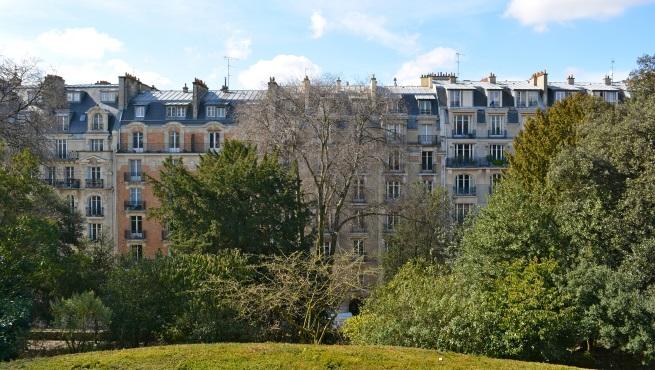 La rue Geoffroy Saint-Hilaire vue de la gloriette