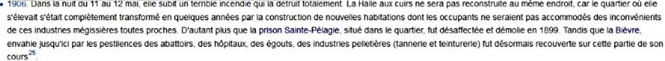 Pour Wikipedia, généralement mieux inspiré, et pour deux autres sites qui affichent la même information : la halle ne sera pas reconstruite ici (sans que l'on sache où).
