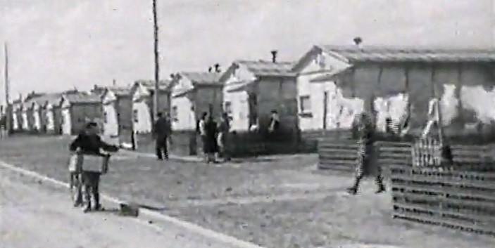 Alignement de baraquements