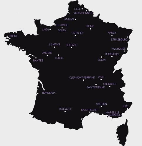 Villes dotées de tramways en 2013
