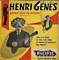 Henri Genès  et son facteur de Santa Cruz