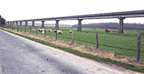 Rail du prototype d'aérotrain - Beauce