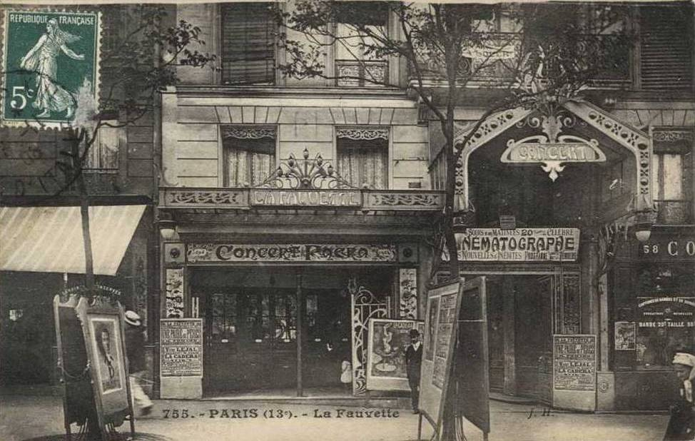 La Fauvette spectacle cinématographique années 1900 un peu plus tard