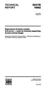ISO TR 16982 page de couverture