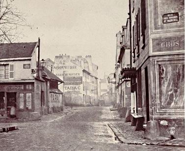 Angle rue Poliveau et rue des fossés Saint-Marcel vers 1850