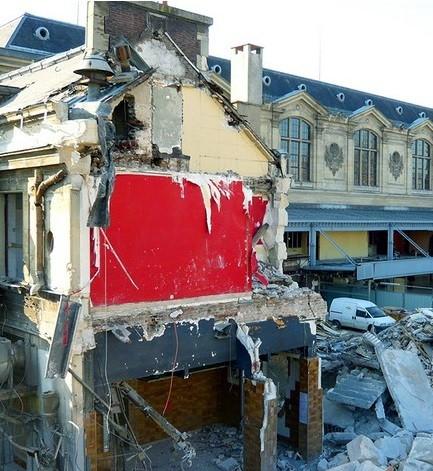 Gare d'Austerlitz le buffet détruit