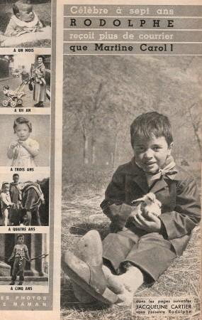 """Photos du """"petit Rodolphe"""" dans la presse"""