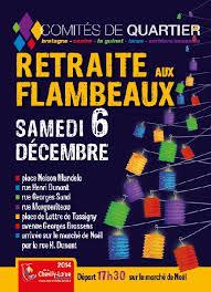 Affiche d'un comité de quartier : retraite aux flambeaux le samedi 6 décembre