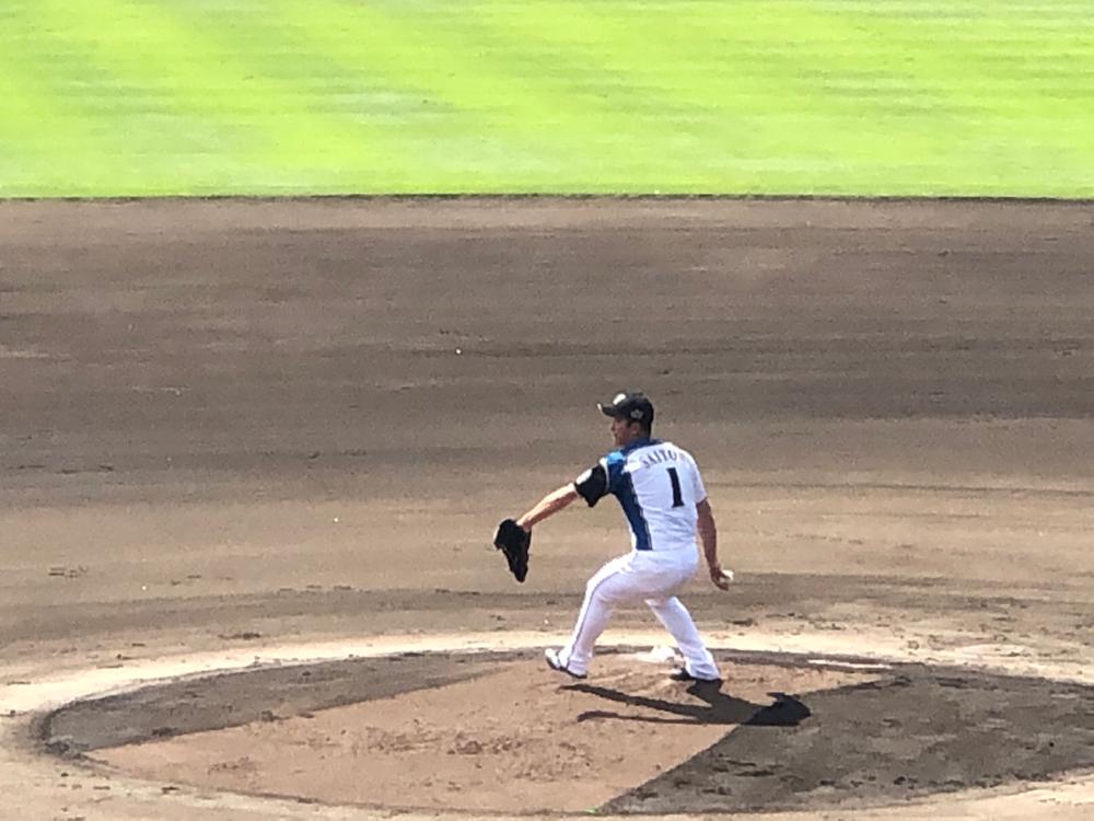 斎藤投手 好投しています