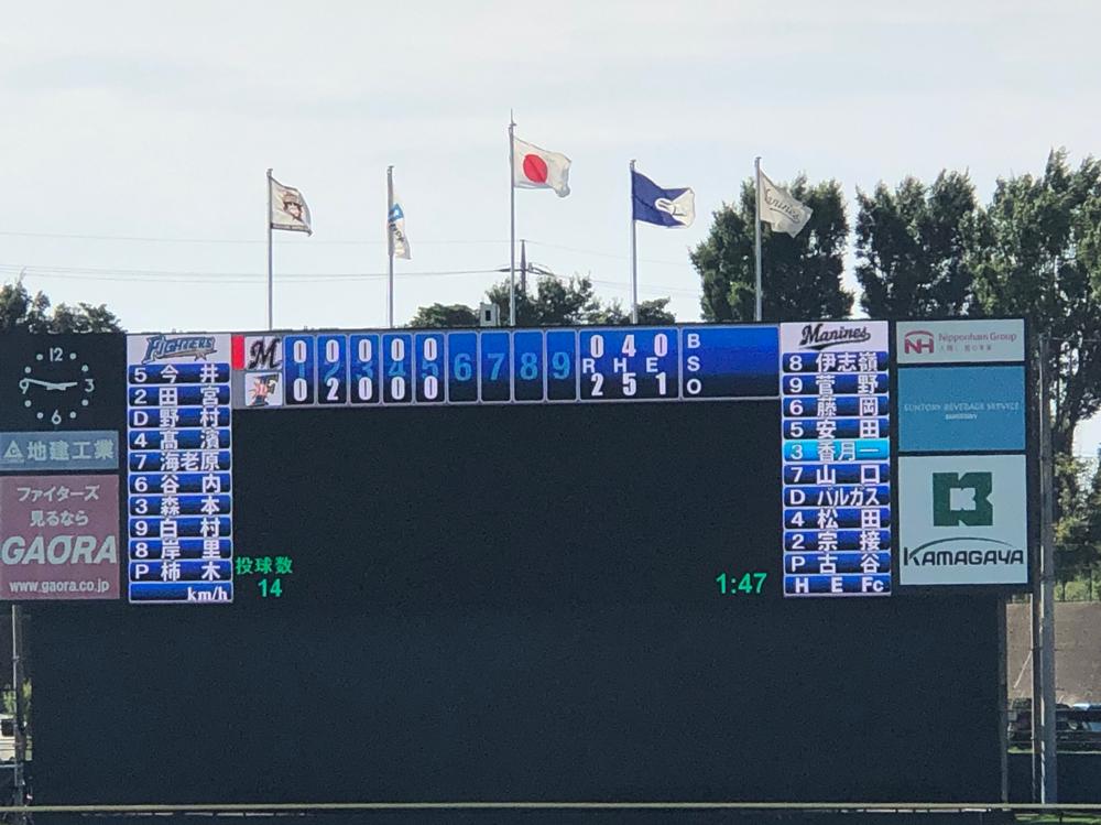 斎藤投手5回 被安打3 奪三振3 与四球3 失点0ナイスピッチング 6回から柿木投手に後を託し降板