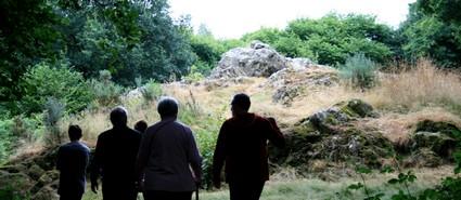 Arrivée sur le rocher de Quelfénec