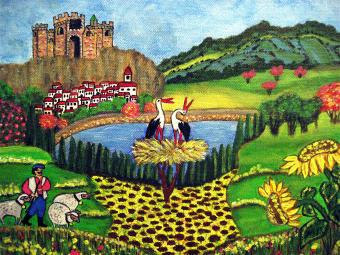 Andalusische Impressionen, 30 x 25 cm, Acryl auf Leinwand