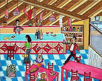 Bar Pedro, 30 x 25 cm, Acryl auf Leinwand