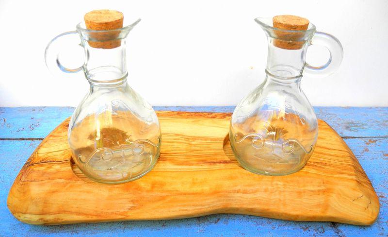 Servierhilfe Essig Öl Olivenholz-Essig-Öl Untersetzer Olivenholz-Giordanos Olivenholz