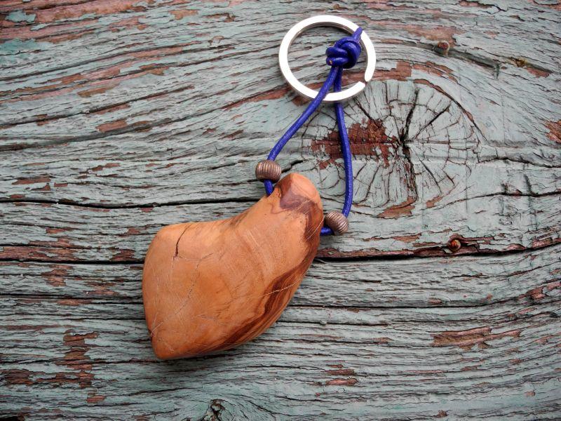 Schlüsselanhänger Holz-Giordanos Olivenholz-Handschmeichler Schlüsselanhänger