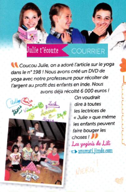 """Dans le magazine """"Julie""""- juin 2015"""