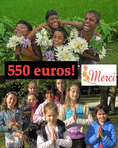 """Sept 2016-11ème chèque de 550 euros pour """"Enfants de l'univers"""""""