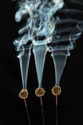Moxa-Therapie ist eine Variante der Akupunktur bei der Beifusskraut abbrennt