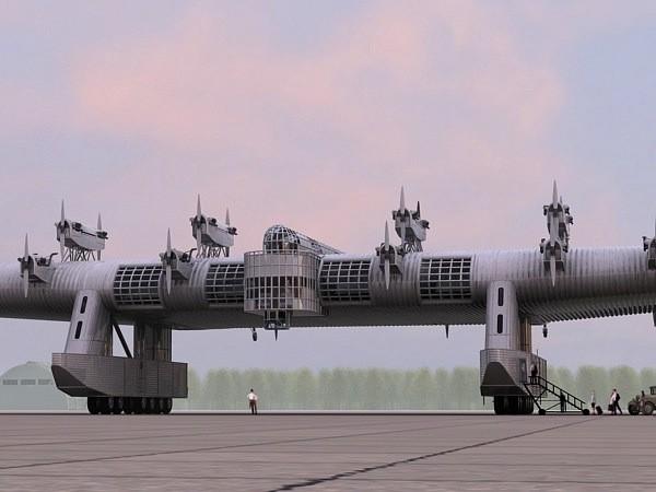 Un gigante in tutti i sensi sono assenti l'armamento questa probabilmente era la versione per uso commerciale e civile.