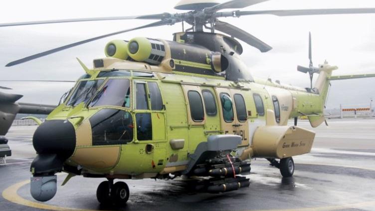 L'H225 di Airbus con il sistema HForce GWS. (Foto: Airbus Helicopters)