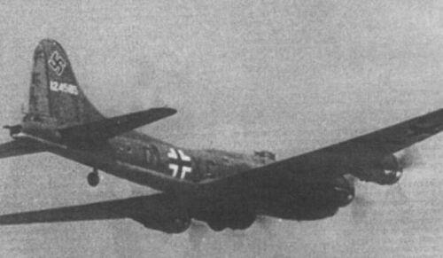 Questa foto incute una certa inquietudine, un B-17 con la coccarda Nazista.