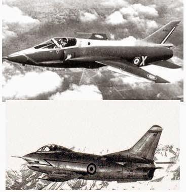 I due classificati Sopra il Taon (Foto del primo prototipo) sotto il G.91 (foto del secondo prototipo MM566)