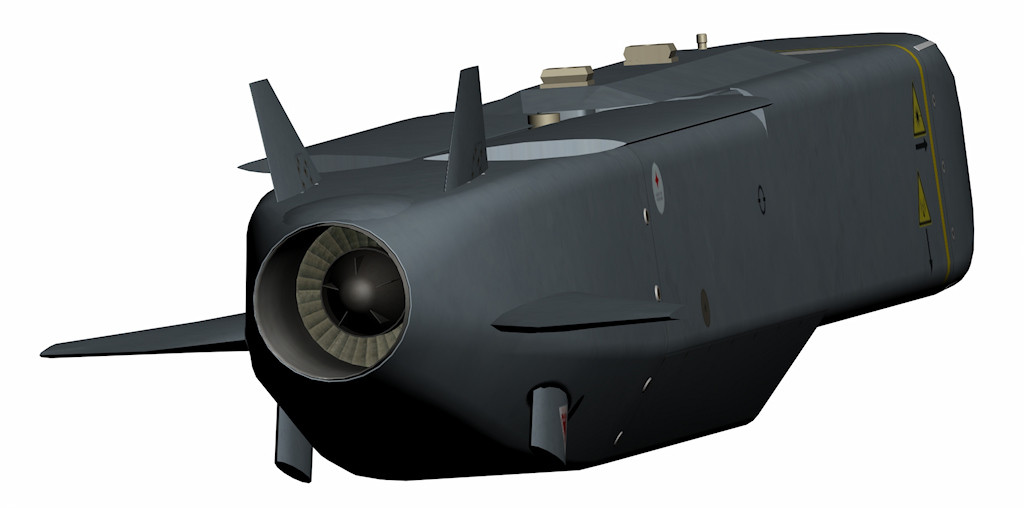 l'ugello di scarico del turbojet Turbomeca Microturbo TRI 60-30.