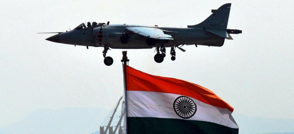 Un Sea Harrier della Marina indiana. (Foto: Indian Navy)