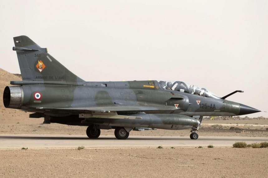 Un Mirage 2000D decolla da una base in Giordania. / (Foto: Armée de l'Air)