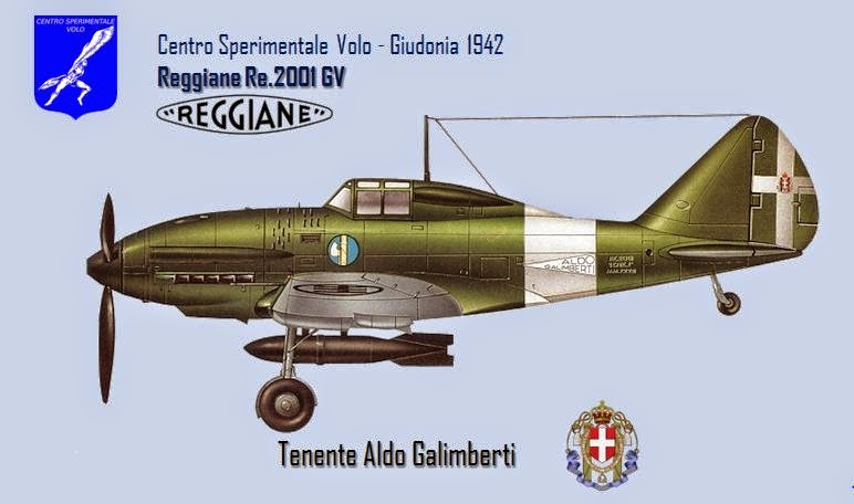 Reggiane Re.2001 GV pilotato dal Ten. Galimberti. - AeroStoria