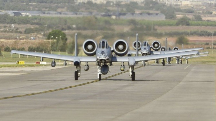 A-10C Thunderbolt II - 74Th FS atterrano ad Incerlik in Turchia (Foto: USAF)