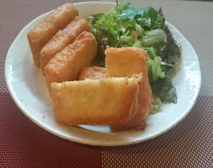 野菜入り やわらか揚げ豆腐 450円(税込)