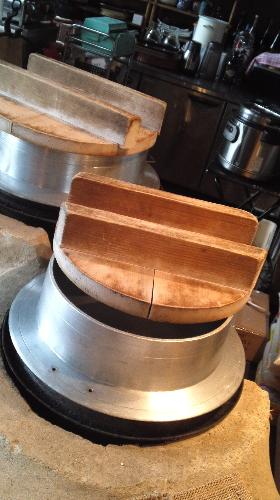 「かまど」で羽釜炊き