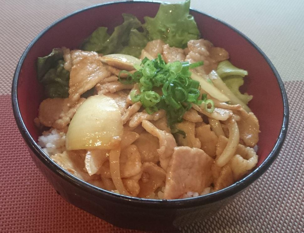 豚生姜焼き丼 550円(税込)