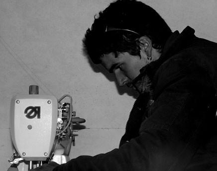 David dans son atelier