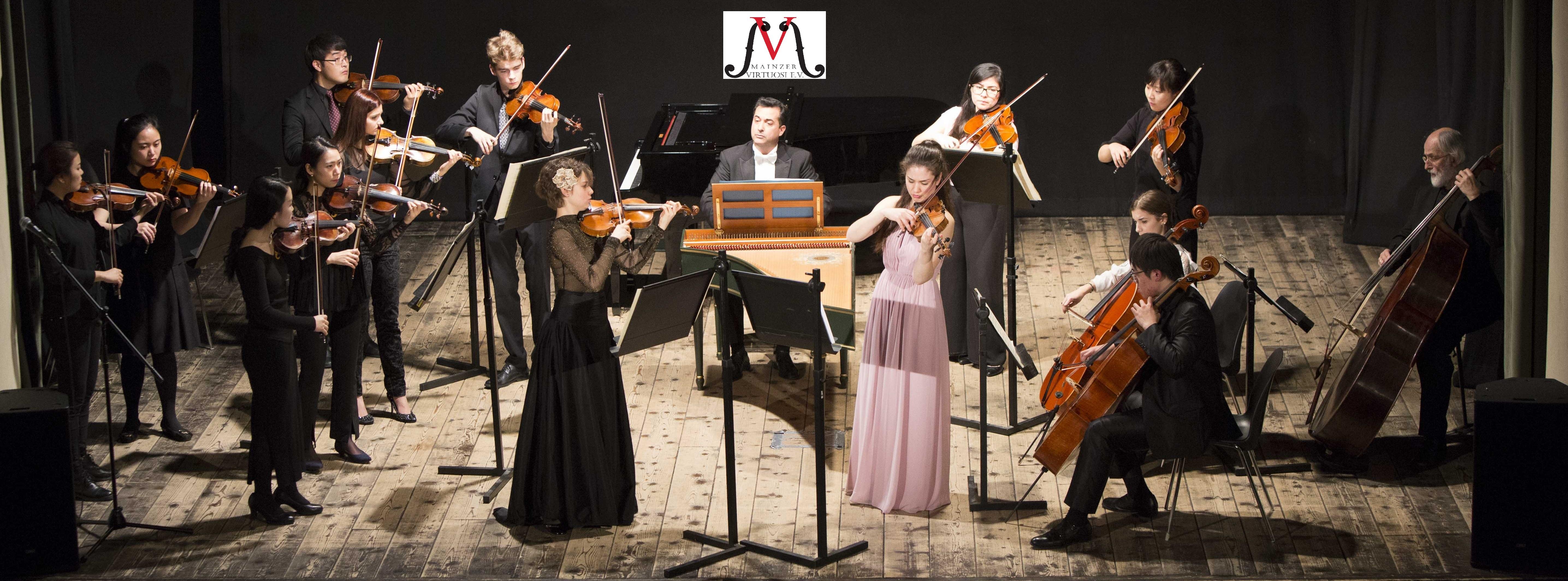 Mainzer virtuosi concert, Agnes Langer and Elizaveta Fediukova - soloists