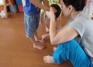 保育園での姿勢指導
