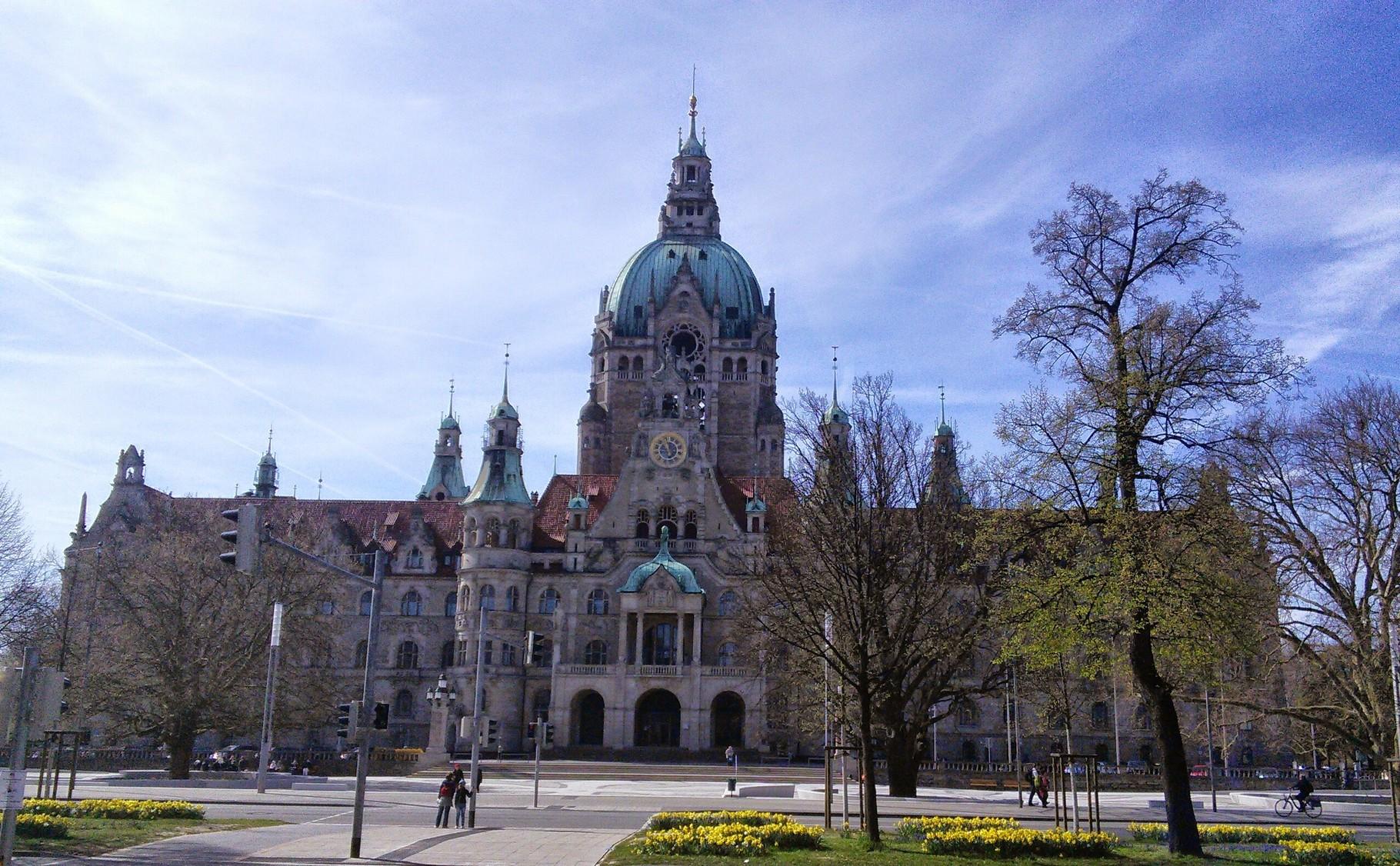Neues Rathaus Hannover Vorderansicht