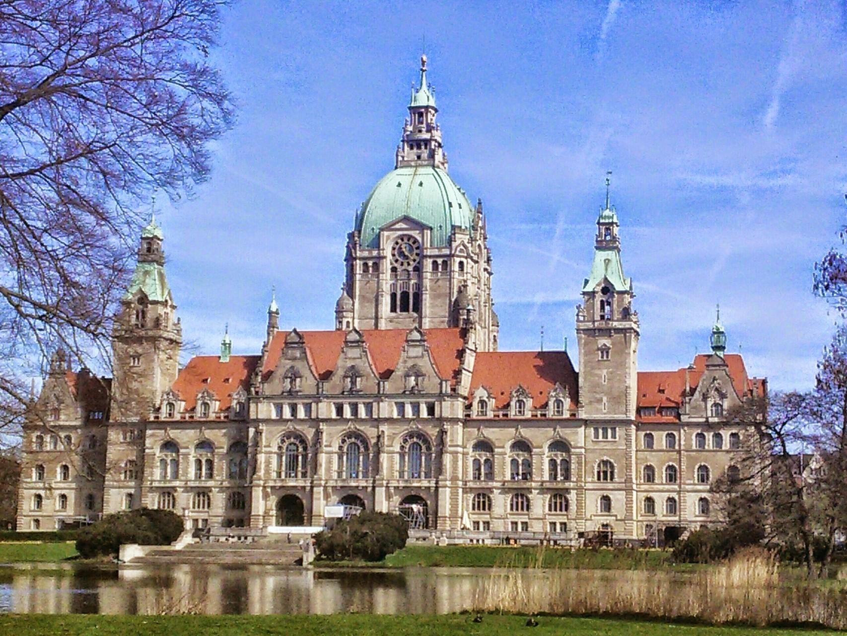Neues Rathaus Hannover Rückansicht 3
