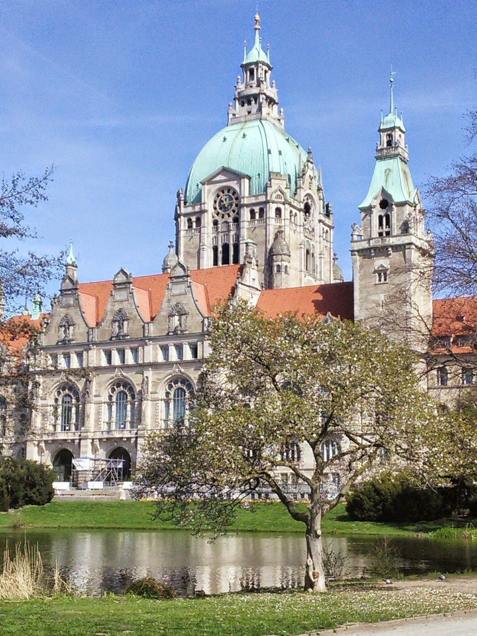 Neues Rathaus Hannover Rückansicht 1