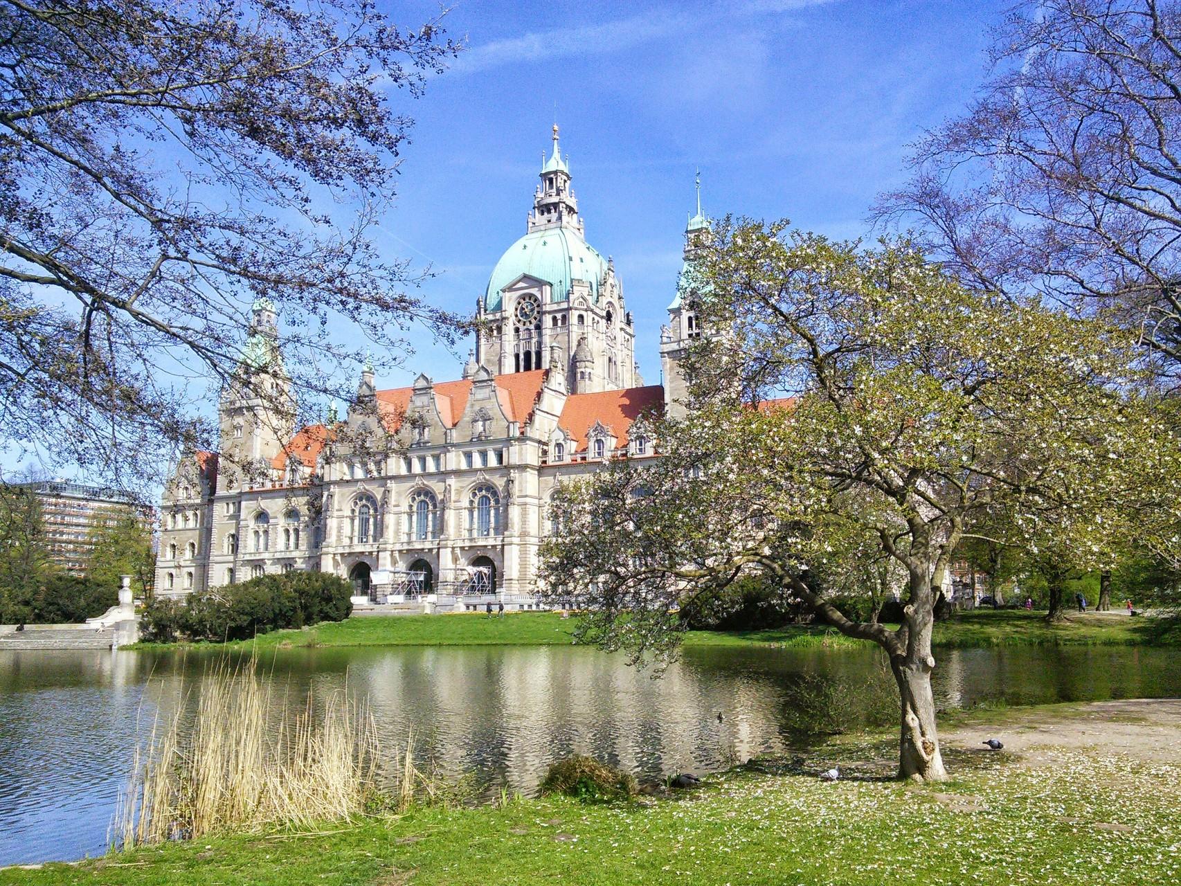 Neues Rathaus Hannover Rückansicht 2