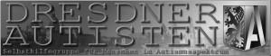 Linkbanner DRESDNER AUTISTEN (graustufen) 300x62px