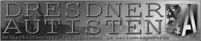 Linkbanner DRESDNER AUTISTEN (graustufen) 400x83px