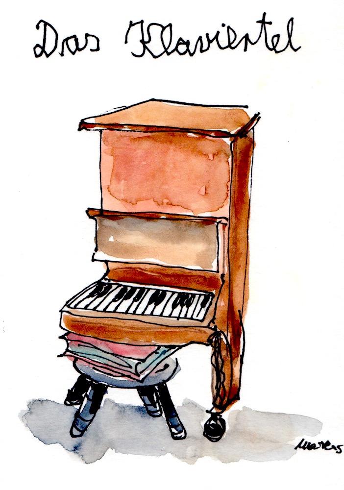 Ein Viertel eines Klaviers nennt man Klaviertel.