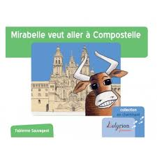 Mirabelle, une jolie vache de la race Aubrac qui se maquille pour le passage des pèlerins